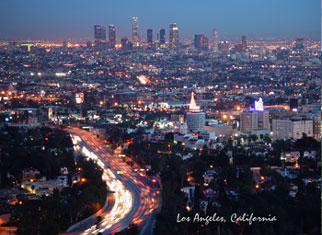 Night Los Angeles Postcard